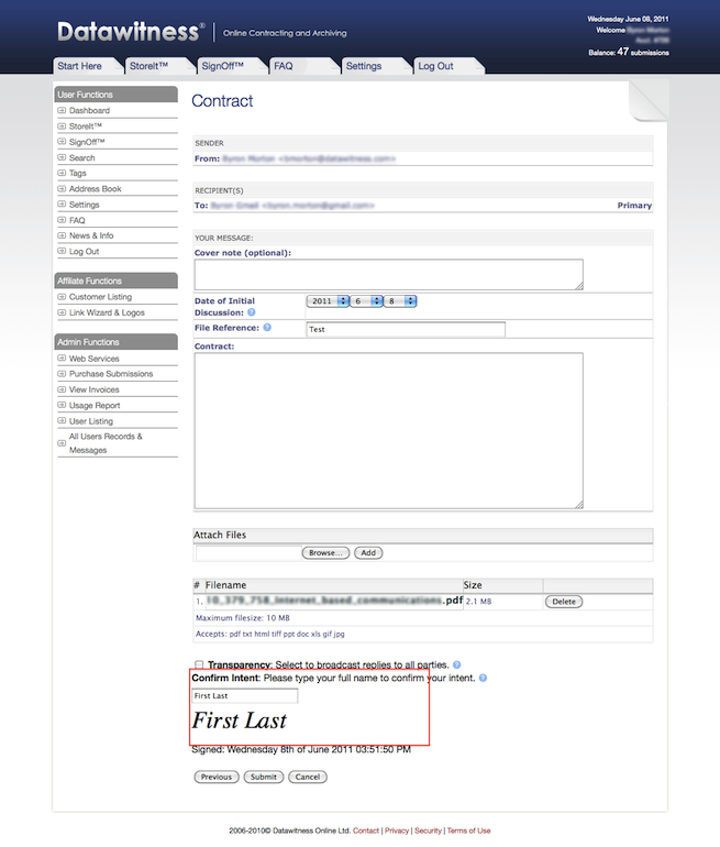 Select Upload - Send Contracts Online