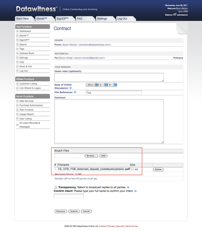Confirm requirements - Send Contracts Online