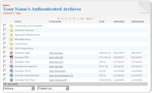 Online Records Archiving from Datawitness